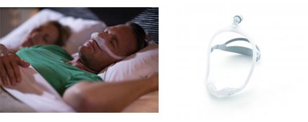 鼻腔だけを覆うタイプのCPAPマスク
